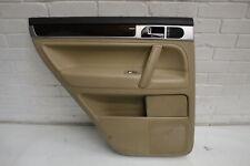 VW Touareg Rear NS Left Cream Leather Door Card