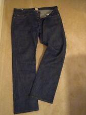 HUGO BOSS Cotton Indigo, Dark wash Long Jeans for Men