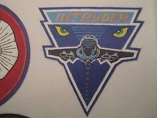 US NAVY INTRUDER HANDPAINTED LEATHER FLIGHT JACKET PATCH VERSION 1 PAINT