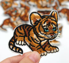 Kitten Iron On Patch- Animal Cat Tiger Nature Cute Applique Crafts Badge HD107