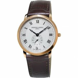 Frederique Constant FC-235M1S4 Slimline Small Seconds Rose Gold Women's Watch