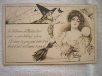 RARE ARTIST SIGNED, KATHRYN ELLIOTT, HOLLOWEEN, PUBLISHED BY GIBSON ART Co. 1913