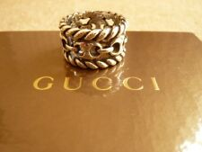 Gucci mens silver ring. Hallmarked and Gucci branded. Brand new with box.