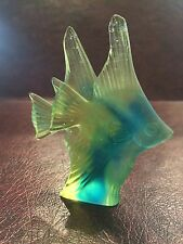 DAUM FRANCE PATE DE VERRE 'COUPLE DE POISSONS FIGURINE FISH NIB Perfect