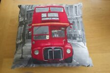 London Print Red Bus Cushion
