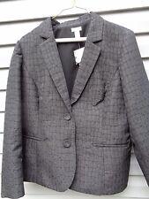 Chico's SEPHIA Black Lined CROC BLAZER Long Sleeve Jacket Size 3 SRP $129