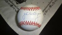 MIKE HARGOVE  AUTOGRAPHED   BASEBALL  SOME TONING