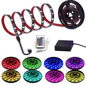 4.5V Battery Operated 1M 3m rgb LED Strip Light Waterproof usb Craft Hobby Light