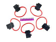 5 PACK 10 GAUGE ATC FUSE HOLDER IN-LINE AWG WIRE COPPER 12 VOLT+ 1 - 40 AMP FUSE