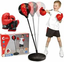 Kids Punching Ball Bag Boxing Punch Exercise Sports Set With Gloves Toys Gifts