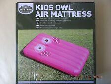 KIDS OWL AIR MATTRESS/ PINK