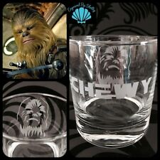 Star Wars Whiskey Glass CHEWBACCA - FREE Name Engraving Personalised Unique Gift