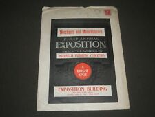 1905 MERCHANTS AND MANUFACTURERS EXPOSITION PROGRAM & ENVELOPE - J 2375