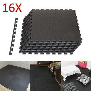 16 x Bodenschutz Matte Schutzmatten Set Fitness Unterlegmatte Puzzlematte EVA