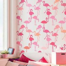 Flamingo Allover Stencil - Fun and Playful Tropical Stencil for a Bedroom