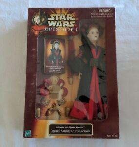 "Star Wars Episode I 12"" Ultimate Hair Queen Amidala Doll Figure  damaged Box"