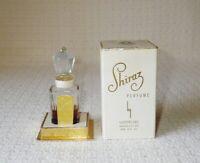 Rare Vintage Luziers SHIRAZ 1/2 Oz Perfume Bottle Glass Stopper & Display Box