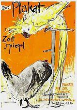 Original vintage poster print THE POSTER SWISS EXPO PARROT 1949 Falk