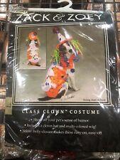 Zack & Zoey Class Clown Dog Halloween Costume Large NIP Hat Wig Jacket LARGE