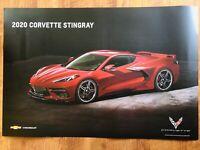 """NEW 2020 Chevrolet Corvette Stingray DEALER ONLY Poster 24x36"""" Mylar 2 Sided"""