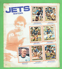 #T47.  1983 RUGBY LEAGUE  STICKERS - CRONULLA  SHARKS  / NEWTOWN  JETS