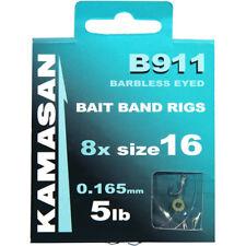 60 x NGT Barbless Coarse Carp Match Fishing Hooks to Nylon Set Mixed Sizes