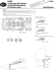 New Ware Mask NWAM0616 1/72 Convair F-102A Delta Dagger EXPERT Meng