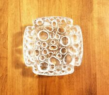 Vintage Bubble Textured Glass Ashtray with Personality, Collectible Tobacciana