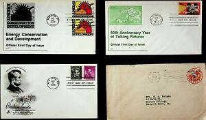 USA 1946-77 ENERGY CONSERVATION & DEV/ LNCOLN/ TAKING PICTURES 4 COVERS W/ 5v