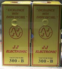 (2) Factory Matched JJ Tesla 300B  Triode tubes