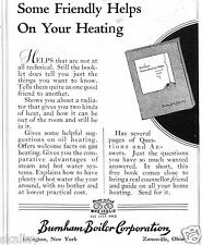 1937 small Print Ad of Burnham Boiler Corporation