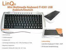 Mini Multimedia USB Tastatur Deutsch Arabisch LinQ IT-k301