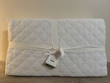 New ListingPottery Barn Belgian Flax Linen Diamond Quilt King/Cal King New Nwt White