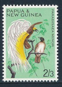 1964-1965 PAPUA NEW GUINEA 2/3d BIRD FINE MINT MNH SG68