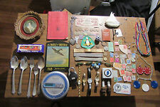 junk drawer lot estate sale old coins watches stamps vintage marbles panasonic c