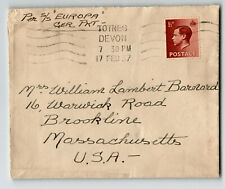 Gb 1937 Ss Europa Cover to Usa - Z13828