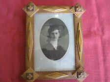Antique Tramp Art Picture Frame c1930