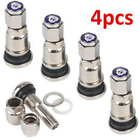 TYRE VALVE BOLT IN STEM TO FIT BBS FOX ALLOYS WHEELS CHROME SILVER METAL CAR VAN
