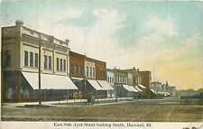 Illinois, IL, Harvard, East Side Ayer Street Early Postcard