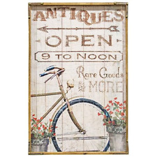 """Antiques Open 9 to Noon - 24"""" Wooden Sign"""