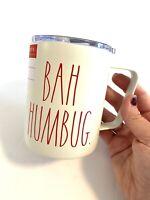 NEW Rae Dunn BAH HUMBUG Insulated Coffee Mug Christmas Stainless