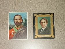 2 Vintage Tobacco Cards Royal Bengals Joe Weber & Between The Acts Little Cigars