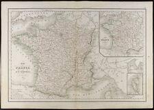 De 1847, Carte ancienne Carte de la France en 86 départements (Delamarche)