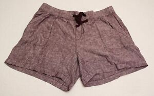 Lane Bryant Women's Drawstring Linen Sleep Short DB8 Gray Size 14/16 NWT