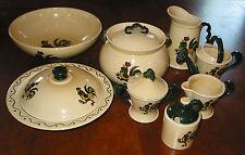 "Metlox: 12 ""Poppytrail"" California Provincial Pottery Serving Pieces -  Estate"