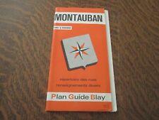 carte plan guide montauban repertoire des rues renseignements divers
