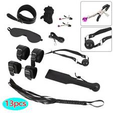 13pc Adult Sex SM Toys Handcuffs Strap Whip Rope Restraints System Set Sexy Game