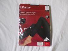 Jolinesse Thermal Footless 60 Denier Tights Black 18/20