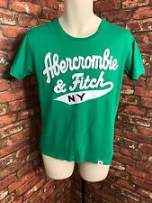 Abercrombie & Fitch N Y Mens Cotton T-Shirt Slim Fit Short Sleeves Green Medium