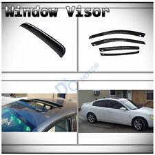 5pcs Smoke Vent Shade Side Window+Sun/Moon Roof Visors Fit 02-06 Nissan Altima